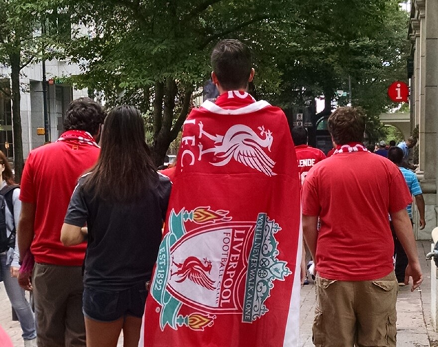 Liverpool fans in charlotte
