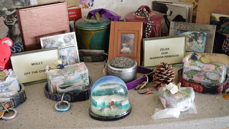 Ken Feldman shrine to deceased pets