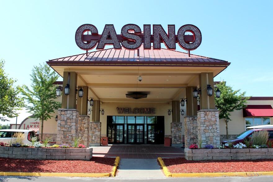 The entrance to Lakeside Casino near Osceola, Iowa.