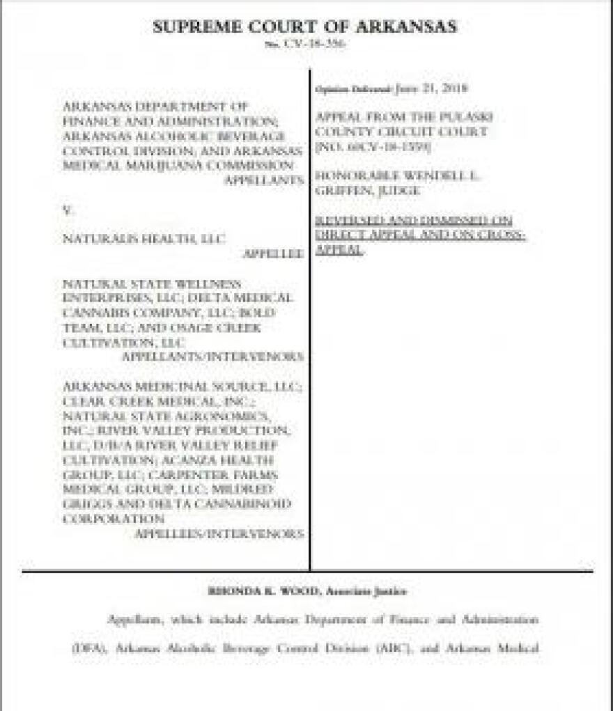 The Supreme Court of Arkansas's written opinion