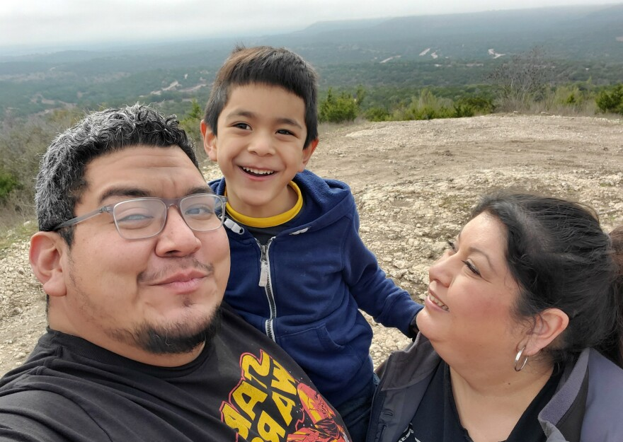 Gaby Garcia and her husband Alex are relying on relatives and neighbors to watch their son Liam while they're at work. Alex is an electrician; Gaby is a nurse.
