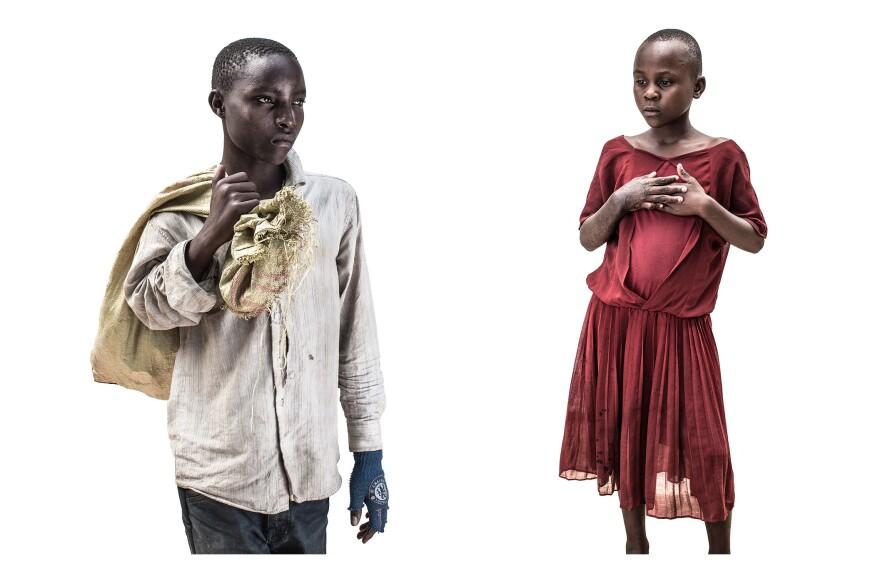 John and Anastazia from the series Tanzanian Street children 2015 © Tom Merilion