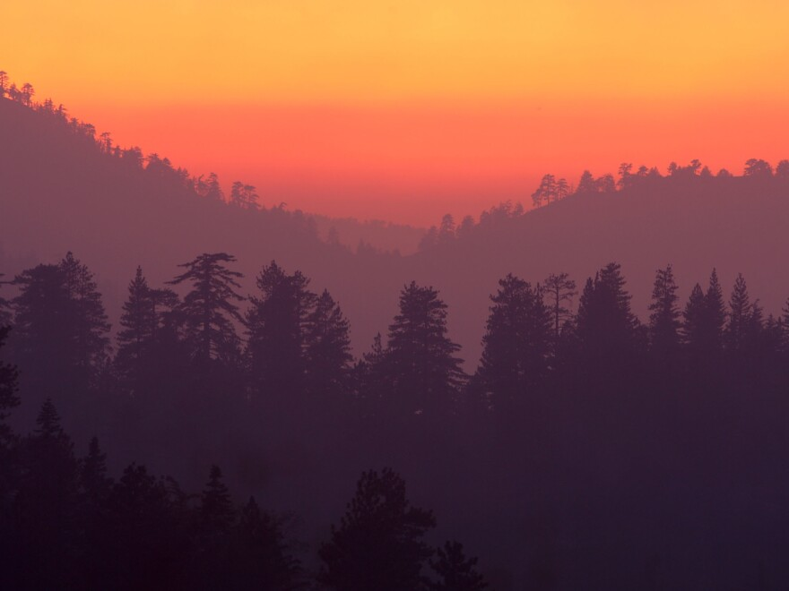 The San Gabriel Mountains National Monument sits on more than 300,000 acres of Angeles National Forest, an area often at risk of wildfire — as in 2009, when smoke settled the forest in an orange haze.