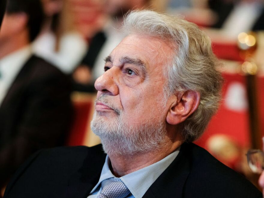 Plácido Domingo at the Teatro de la Zarzuela in Madrid in July.