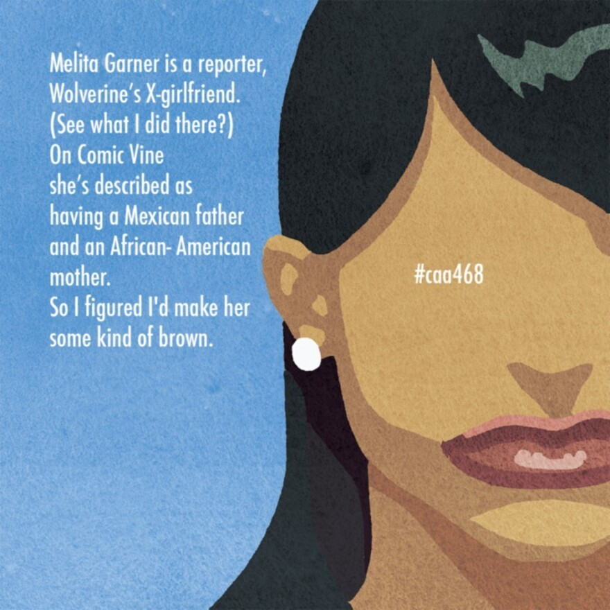 Melita Garner is a character who is described as Mexican and African-American.