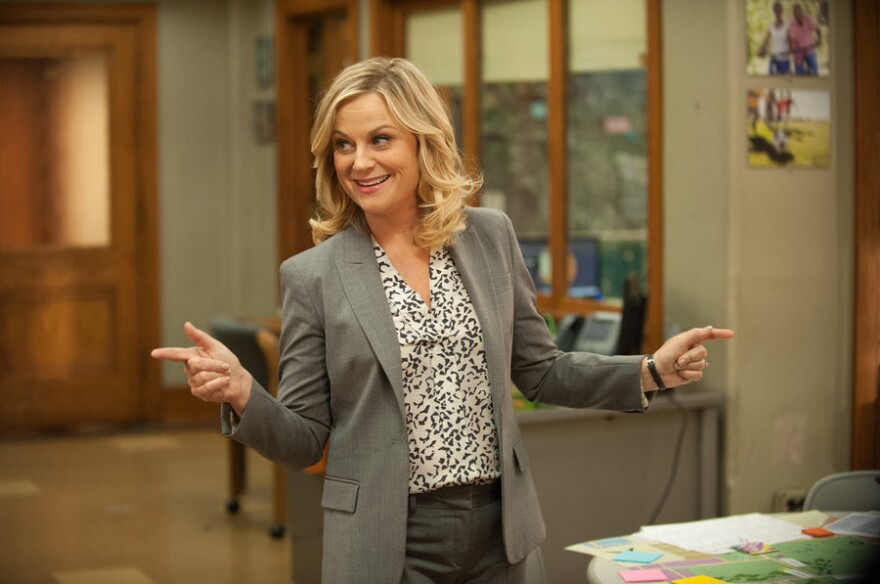 """Amy Poehler plays Leslie Knope on <em>Parks and Recreation</em>, which will air its final season next year. Poehler says, """"It's a privilege in television to be able to have a proper goodbye."""""""
