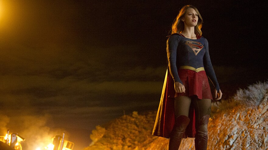 Linda and Glen look forward to watching <em>Supergirl</em>, the new CBS series starring Melissa Benoist.