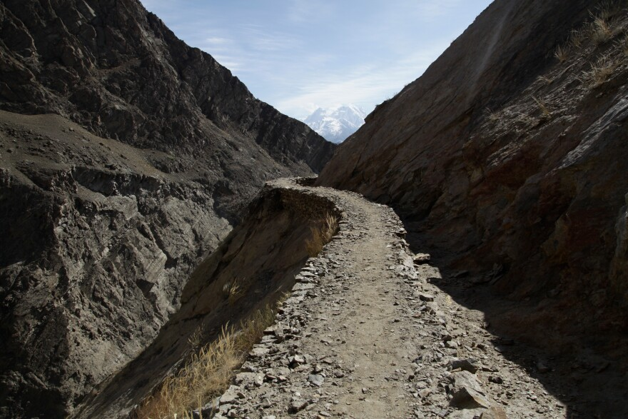 Water canals carved and built into the mountainsides have long been used by residents to tap glacier melt to provide water for their villages. But as the glaciers behave more erratically — surging, shrinking and flooding — some of the canals have run dry.