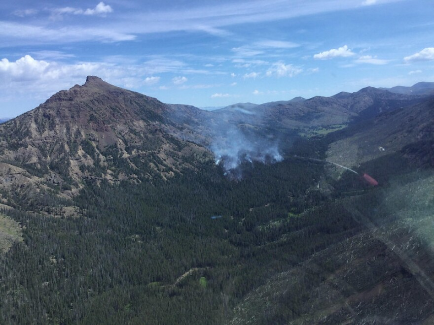 The Pollux Fire, shown in this August 4 image, burned 30 acres before being declared out October 2