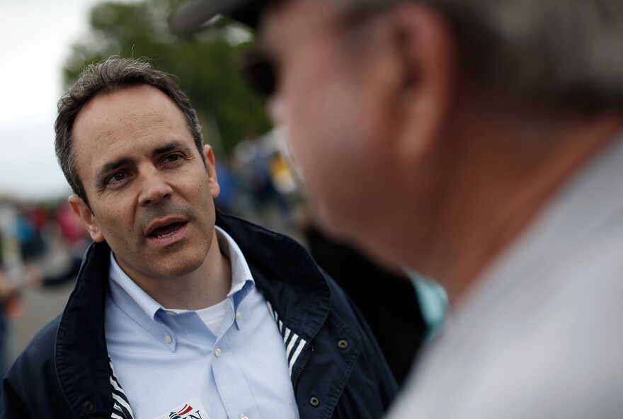 Kentucky Gov. Matt Bevin during his election campaign in May.