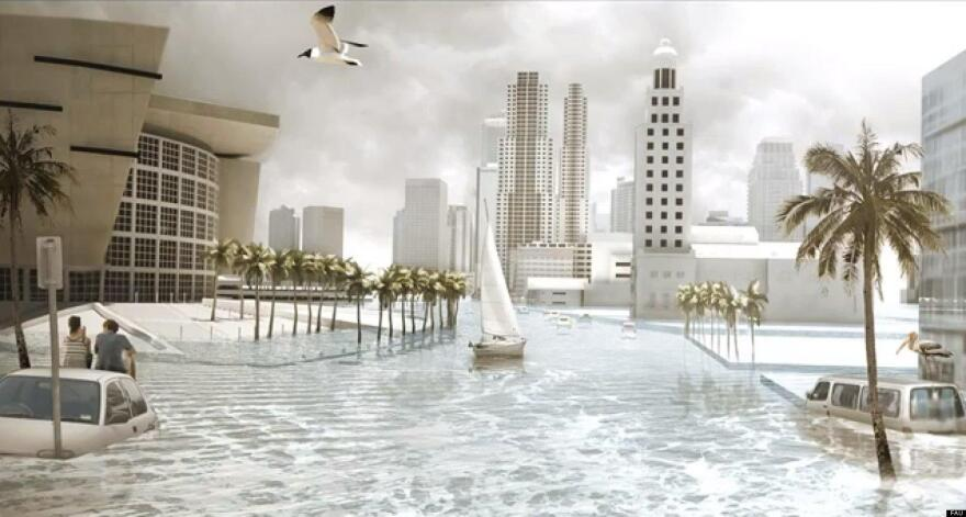 Planners from Miami-Dade, Broward, Palm Beach and Monroe counties agree on a projection of possibly two feet of sea-level rise by 2060 and possibly six feet by 2100.