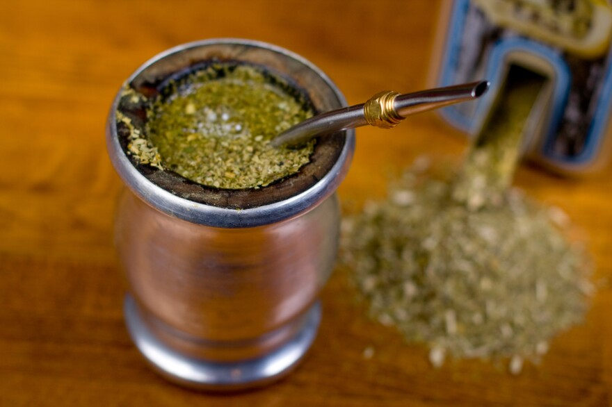 A gourd of yerba mate. Legend has it that the moon gifted this infusion to the Guaraní people of South America.