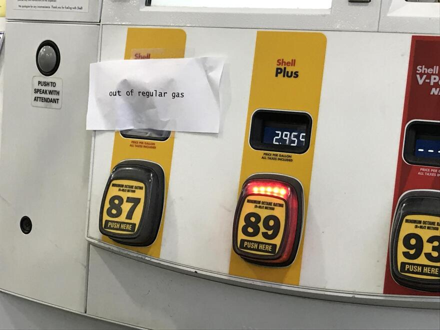 The Daily's gas station at Atlantic Boulevard at Kings Avenue is out of regular grade gas a day before Hurricane Irma in Jacksonville.