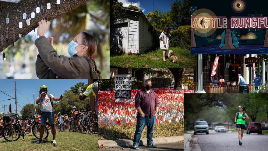 A collage of photos from our favorite KUT stories this year.