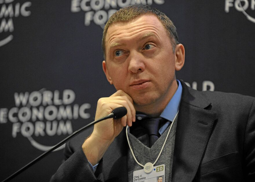 Russian oligarch Oleg Deripaska at a World Economic Forum Event.