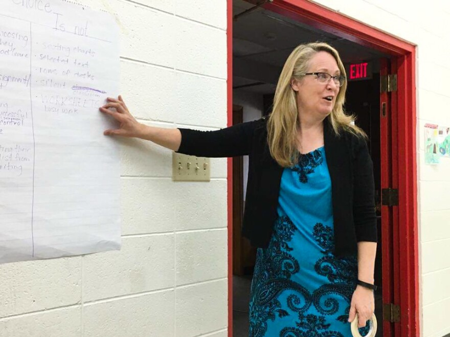 Tammy Elser conducts a teacher training in Montana.