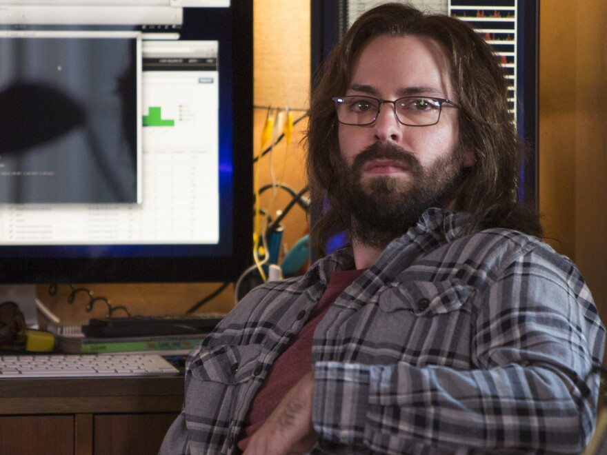 "Martin Starr plays software designer Gilfoyle in the HBO comedy <em>Silicon Valley</em>. In the show's new season, Gilfoyle and his fellow techies attend a startup competition named ""Disrupt."""