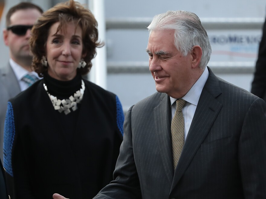 U.S. Ambassador to Mexico Roberta Jacobson has handed in her resignation. She is pictured with Secretary of State Rex Tillerson in Mexico City last month.