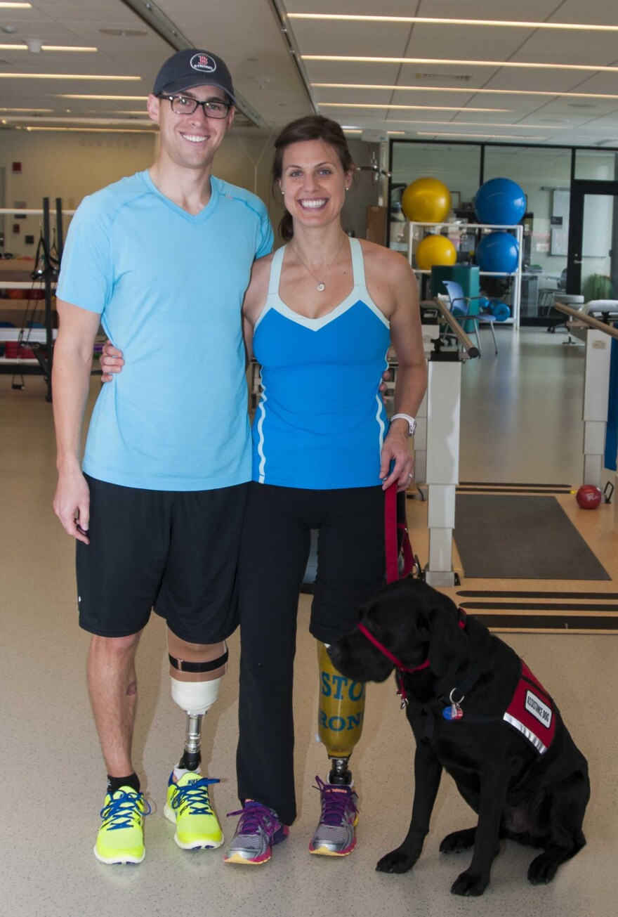 Newlyweds Jessica Kensky and Patrick Downes each lost a leg in the Boston Marathon bombing. Rescue the assistance dog helps fetch keys and push buttons, bringing warmth and joy as the couple recovers.