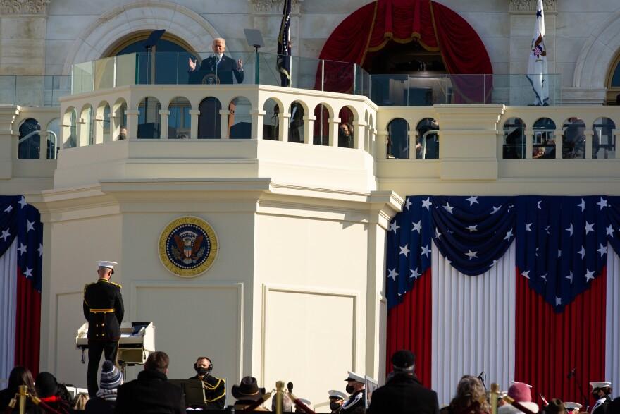 President Joe Biden gives his Inaugural speech.