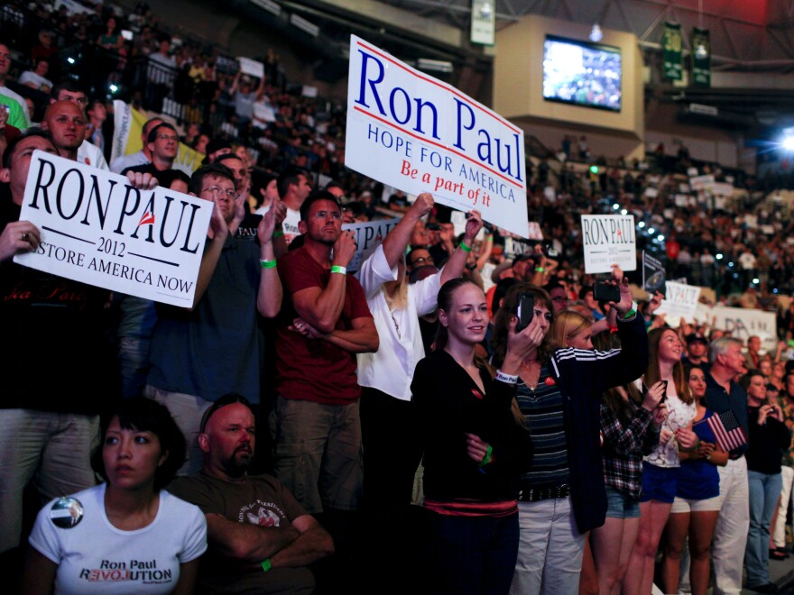 Rep. Ron Paul's thousands of fans were very vocal Sunday in Tampa.