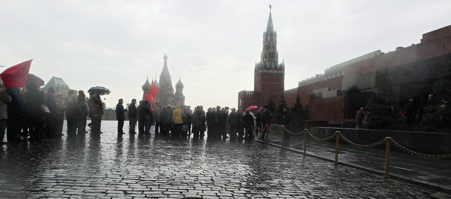 In Moscow's Red Square, people still line up to visit Lenin's tomb. Though the Cold War is over, Russia and the U.S. keep watchful eyes on each other. Tuesday, Russian officials claimed to have uncovered a CIA spy.