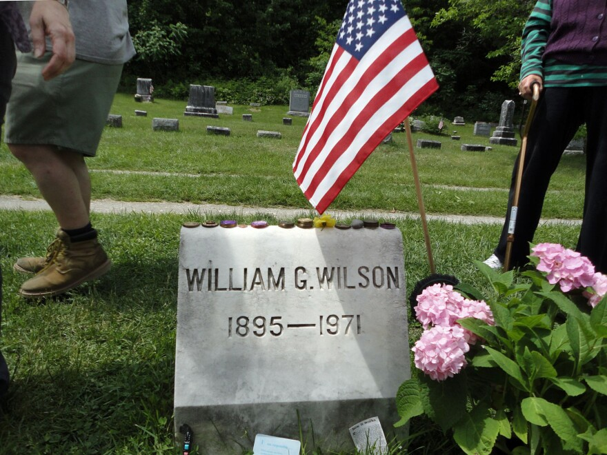 Visitors to Bill Wilson's grave in Vermont often leave sobriety chips atop his headstone, marking how long they have been continuously sober.