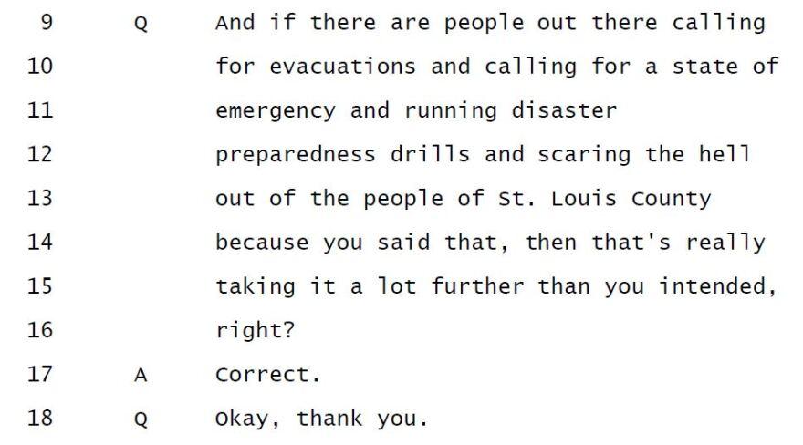 Sperling Oct. 14 deposition, draft transcript, p.210.