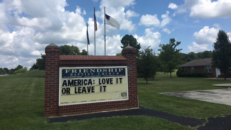 "Pastor Earnie Lucas of Friendship Baptist Church in Appomattox, Va., posted this message on his church sign around the same time that President Trump tweeted that four Democratic members of Congress — all women of color — should ""go back and help fix the totally broken and crime infested places from which they came."""