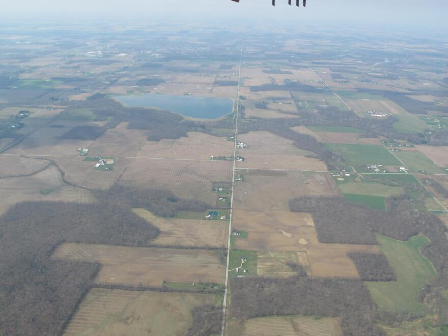 photo of aerial photo of Northern Ohio farmland