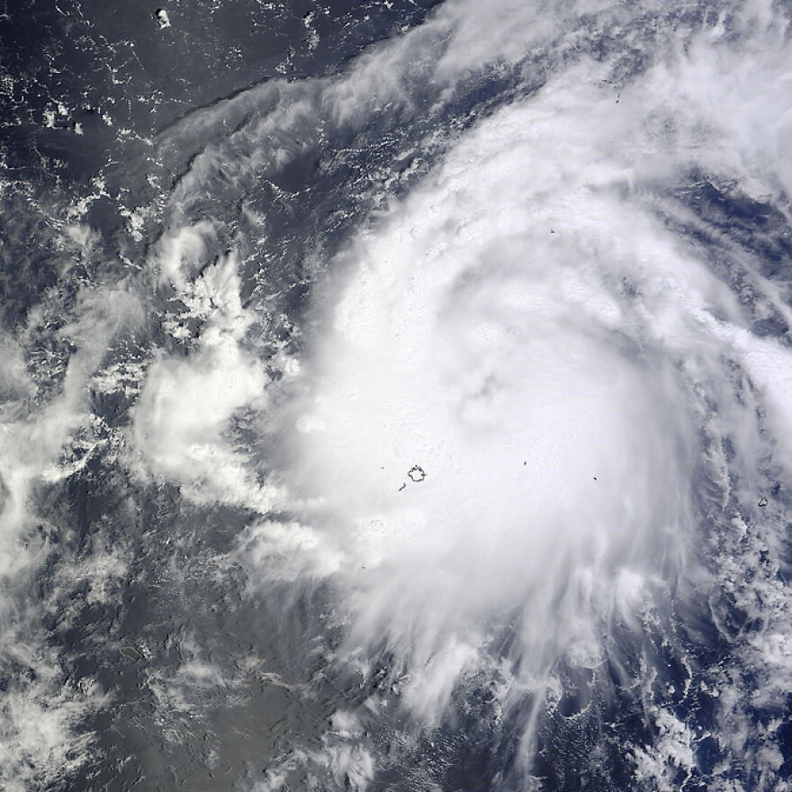 Typhoon Vongfong in a photograph taken by NASA's Terra satellite.