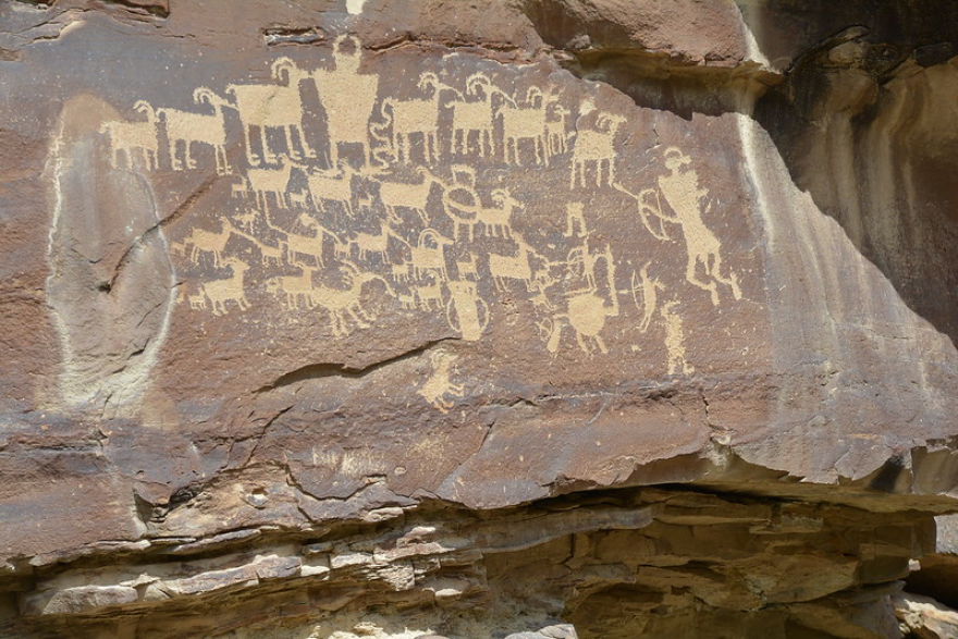 The Great Hunt panel in Nine Mile Canyon, eastern Utah