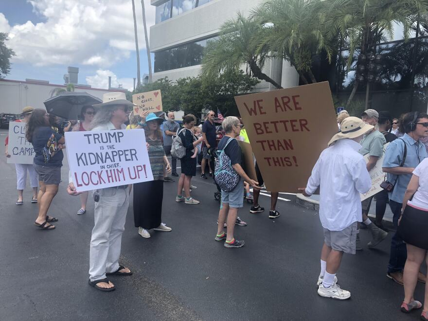 Tampa protesters showed up last month about the detention center in Homestead.
