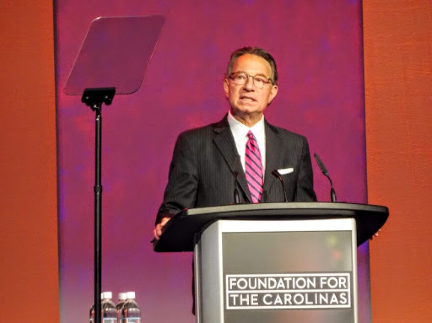 Michael Marsicano, Foundation for the Carolinas CEO, speaking at the Foundation's annual lunch, Tuesday, April 2, 2019.