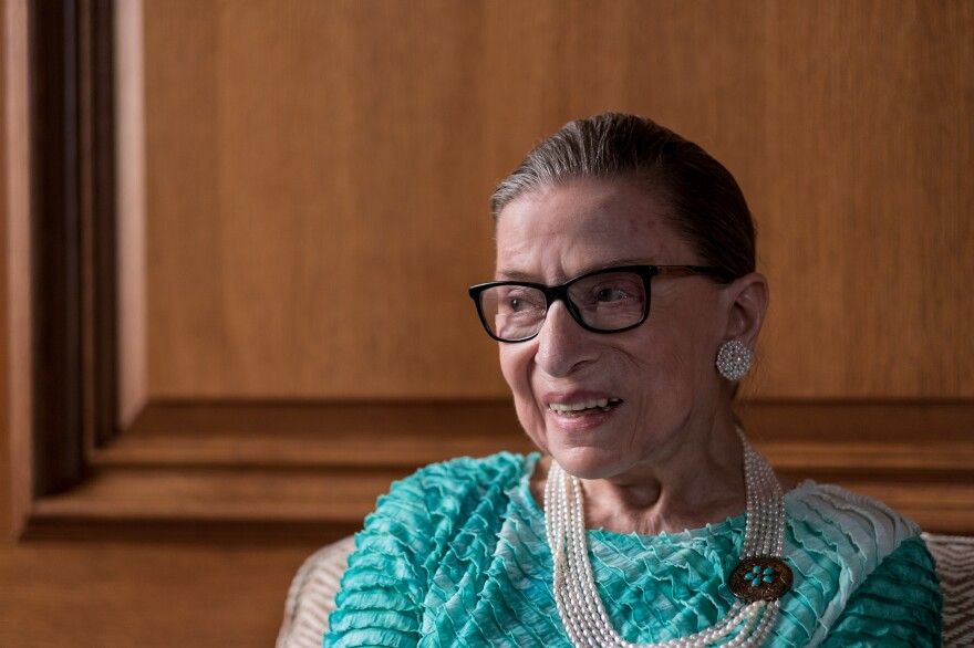 Supreme Court Justice Ruth Bader Ginsburg in her chambers in Washington, D.C.