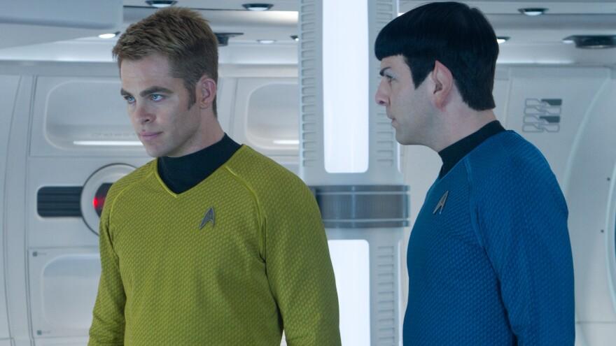 Chris Pine and Zachary Quinto in <em>Star Trek Into Darkness</em>.