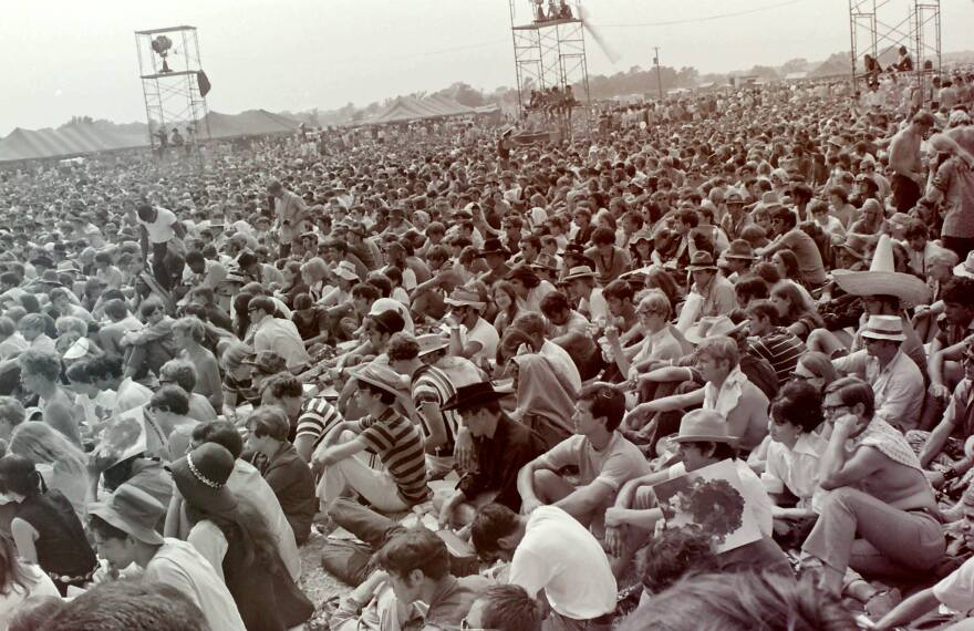 The crowd at 1969's International Pop Festival