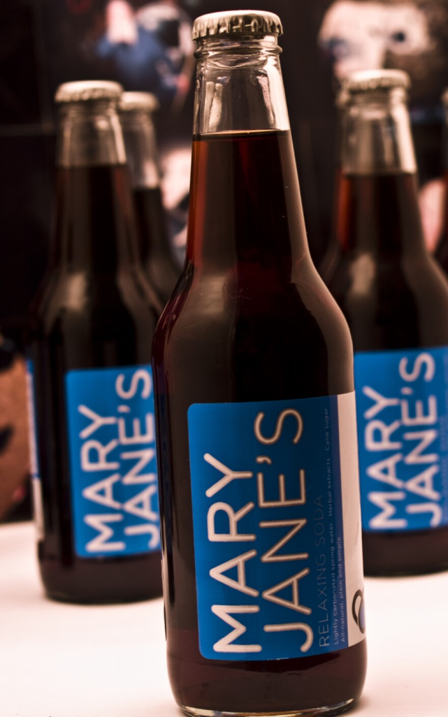 Mary Jane's soda is one of a handful of new herbal products aimed at chilling-out today's stressed-out consumer.