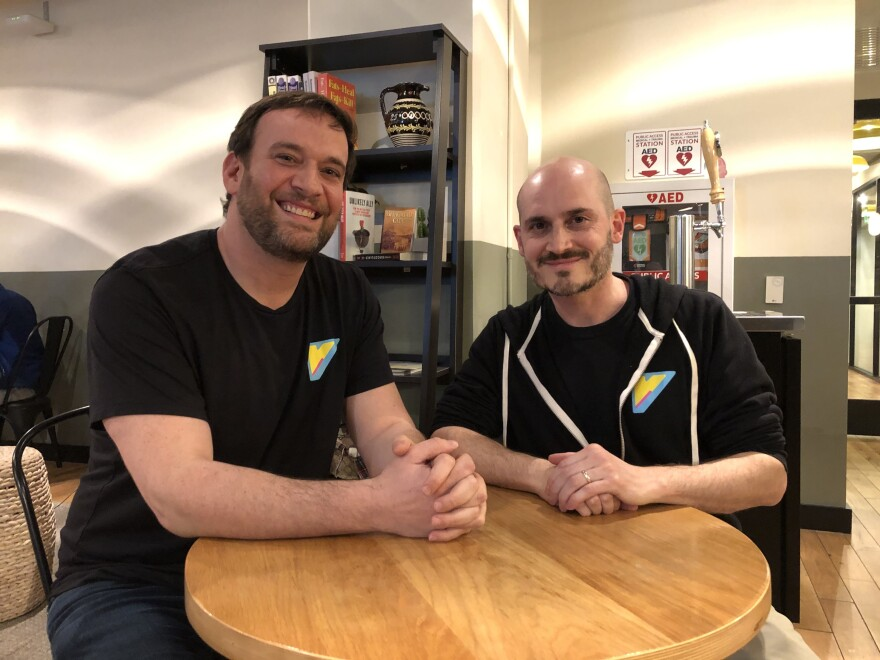 Ben Kusin (left) and Ariel Horn are co-founders of a new gaming-themed TV network called VENN. They plan to launch the Videogame Entertainment and News Network in August. Horn says they were inspired by MTV from the 1990's, which used music as a lens into pop culture. The want to use gaming to do the same.