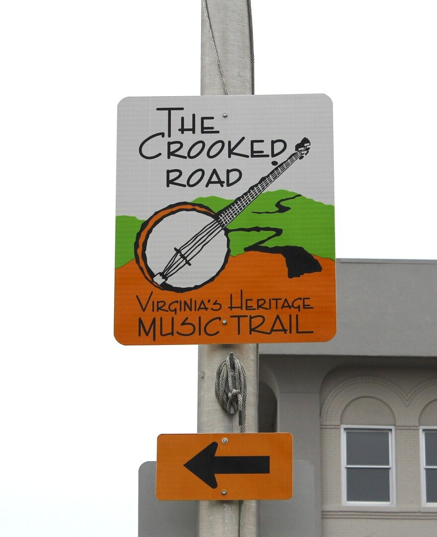 A sign marks the trail in Bristol, Virginia.