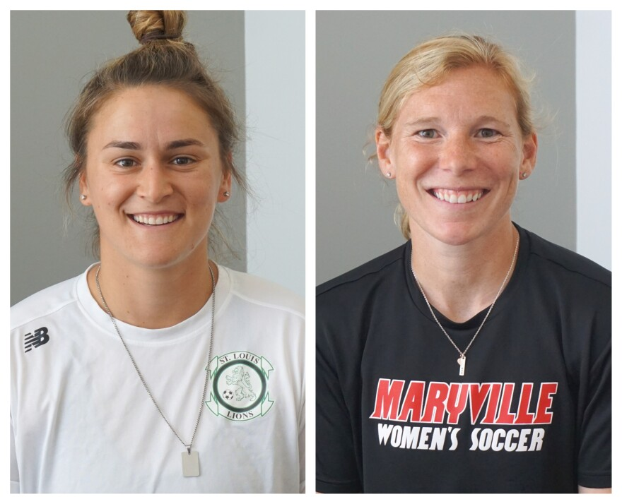 (June 26, 2019) Soccer coaches Olivia Silverman (at left) and Lori Chalupny-Lawson joined Wednesday's talk show to talk about the 2019 FIFA Women's World Cup and the state of local women's soccer.
