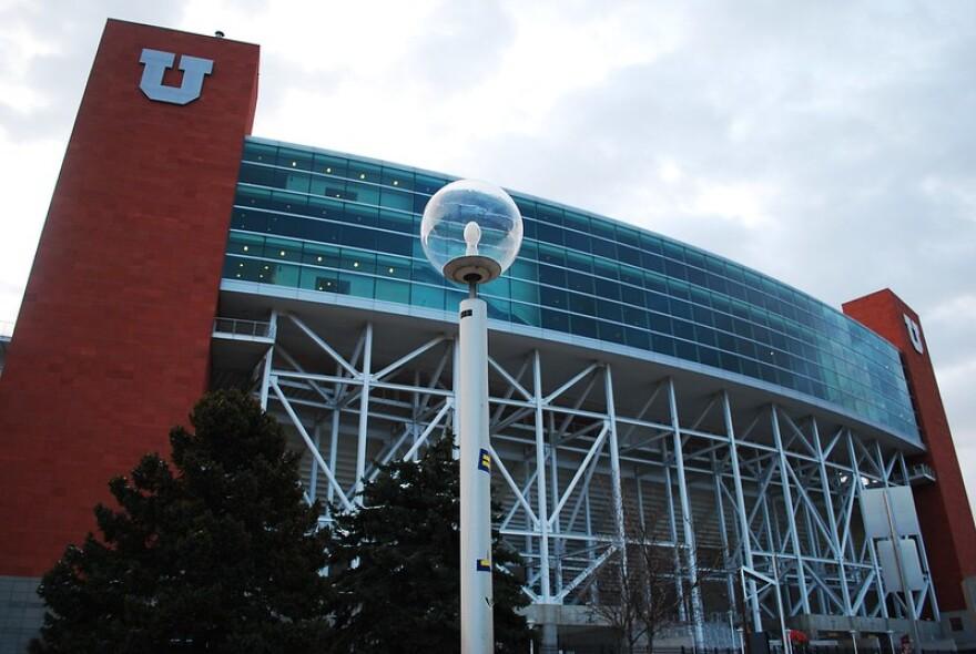 A photo of Rice-Eccles Stadium.