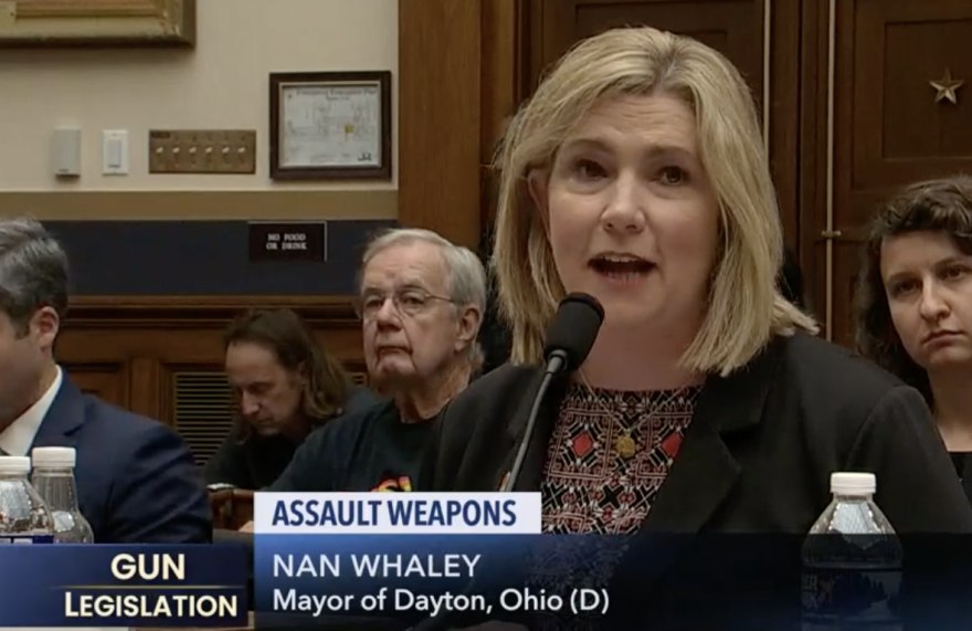 Mayor Nan Whaley testified before a House Judiciary Committee Hearing on Assault Weapons.