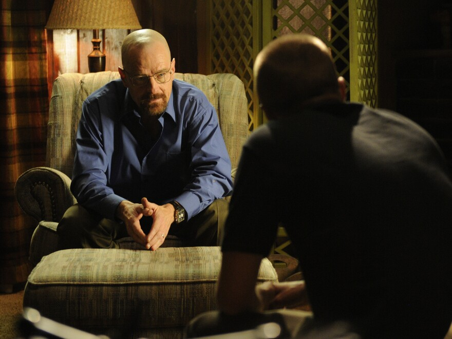 Before the midseason break, <em>Breaking Bad</em>'s Walter White (Bryan Cranston) had stashed away plenty of drug money, but may have inadvertently tipped off his DEA agent brother-in-law.