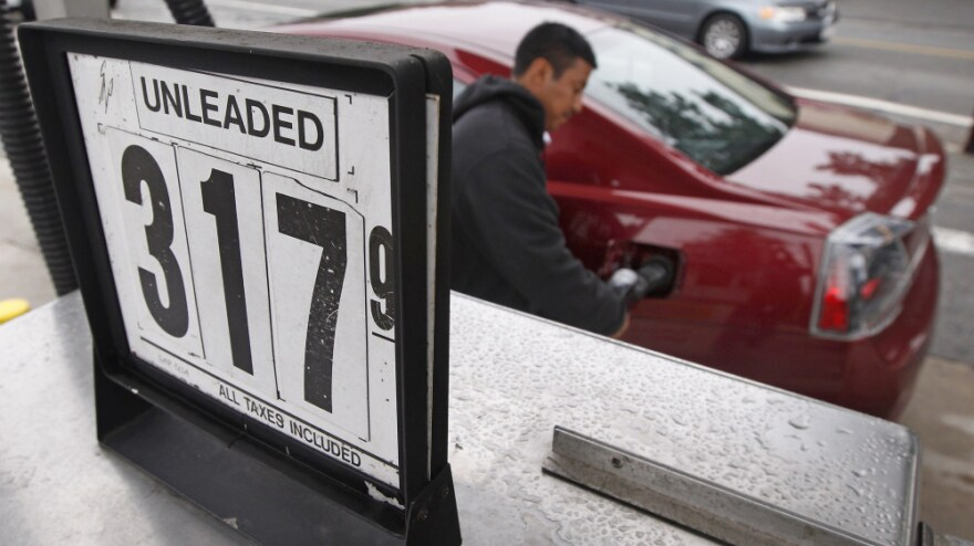 <p>The price of gasoline stood at $3.17 earlier this week in Wakefield, Mass. That's more than 20 cents less than the national average for regular gas.</p>