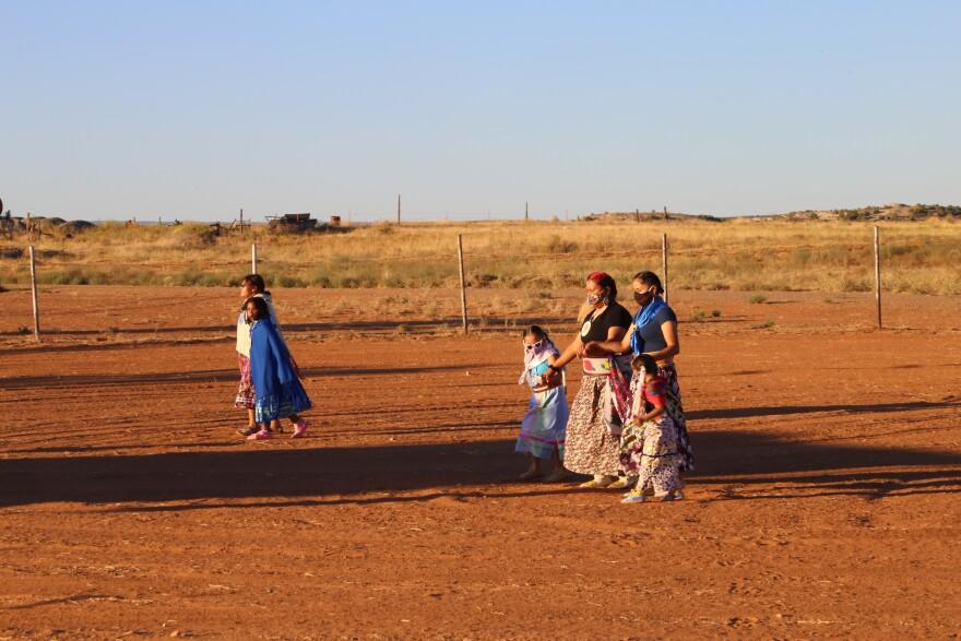 Women dancing the Bear Dance