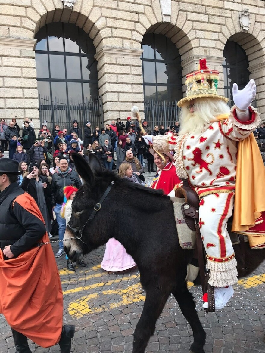 On the Friday before Lent, the people of Verona celebrate their love of gnocchi with a Carnival presided over by Papà del Gnoco and his court.