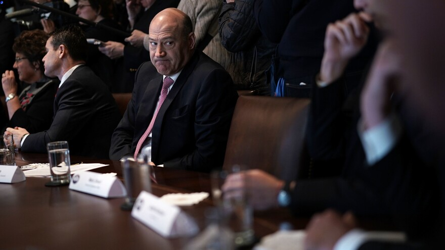 Gary Cohn, then director of the National Economic Council, listens during a Feb. 13, 2018, meeting between President Trump and members of Congress to discuss trade.