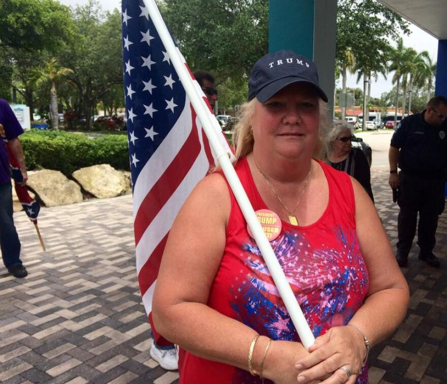 """""""I'm a true patriot,"""" said Linda Schainberg, who's in favor of keeping the street signs the way they are."""