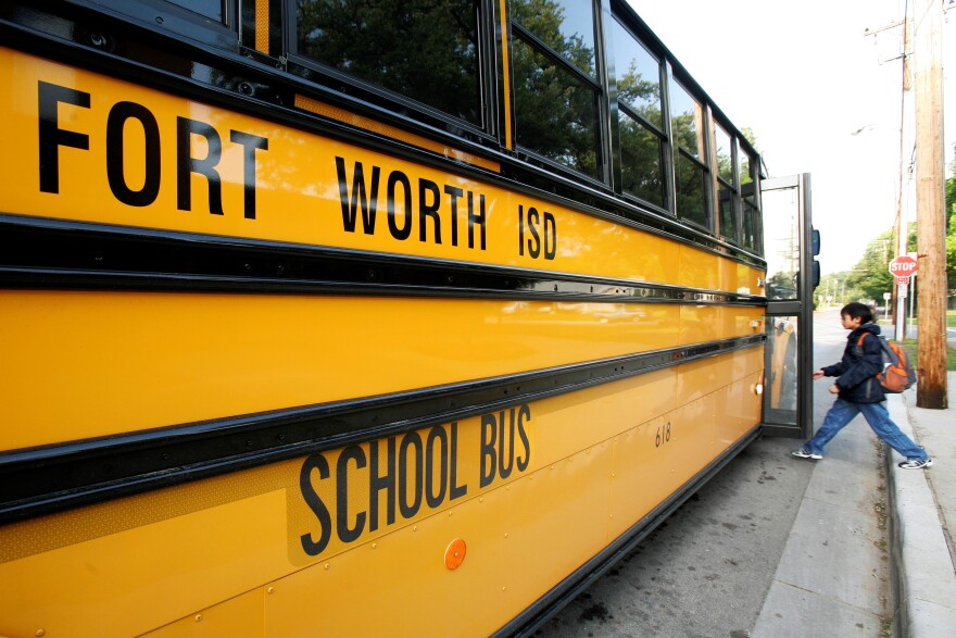 Fort Worth ISD bus